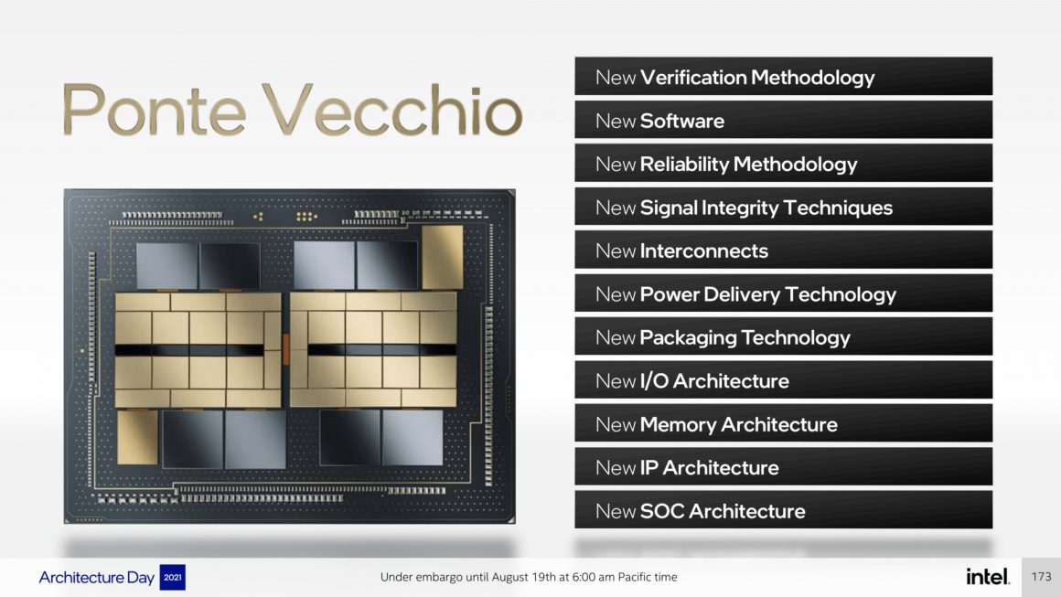 The first official details of Intel Ponte Vecchio graphics