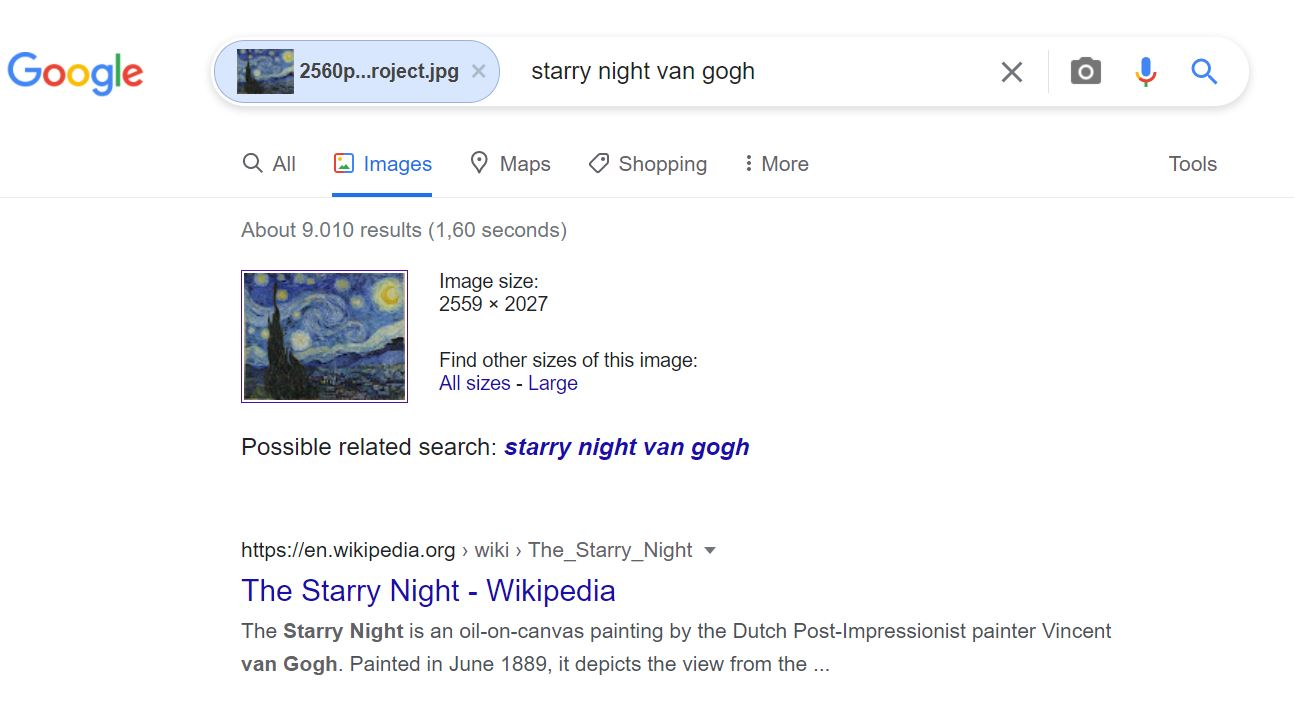 Google search tricks - reverse image
